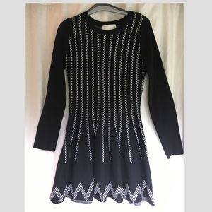 JOA Black & White Dress